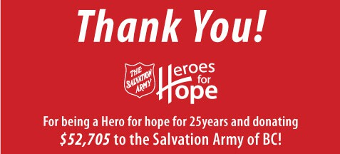 Salvation Army - Heroes for Hope