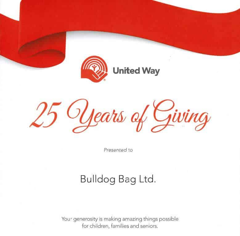 United Way - 25 years of giving